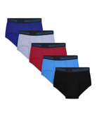 Men's Breathable Cotton Micro-Mesh Assorted Briefs, 5 Pack ASSORTED