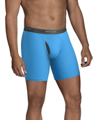 Men's CoolZone Fly Argyle and Solid Boxer Briefs, Extended Sizes, 4 Pack ASSORTED