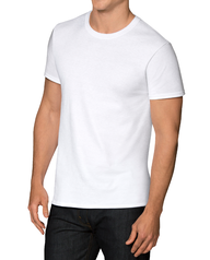 Men's COOLZONE White Crew T-Shirts, 5 Pack