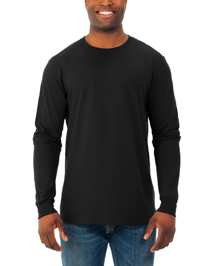 Soft Long Sleeve Crew Neck T-Shirt, 2 Pack