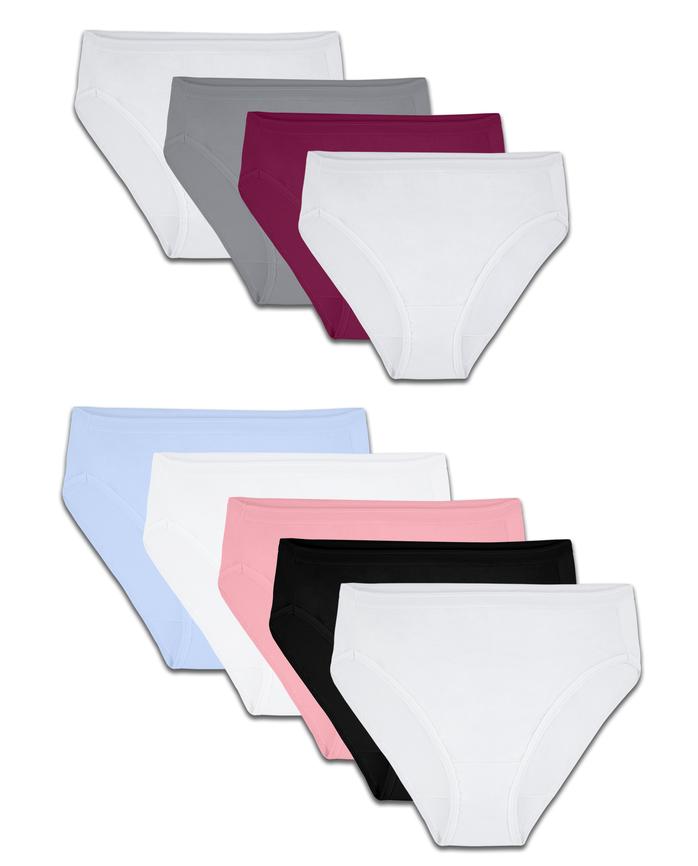 women's Assorted Cotton Hi-Cut Panty, 9 Pack