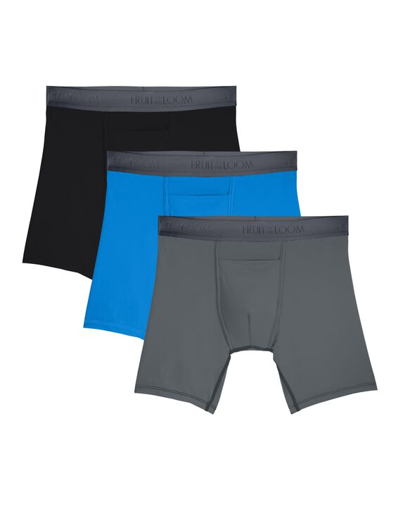 Men's EverLight Go Active Boxer Briefs, 3 Pack ASSORTED