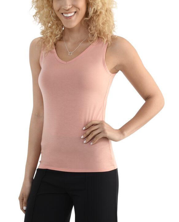 Women's Seek No Further V-Neck Tank Top Dream Coral