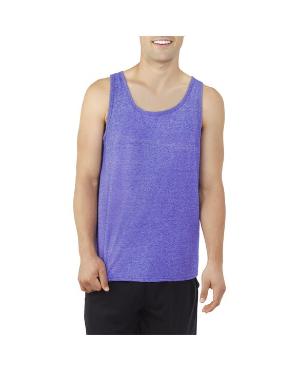 Men's EverSoft Micro Stripe Tank Available in, 1 Pack, Extended Sizes Cobalt Stripe