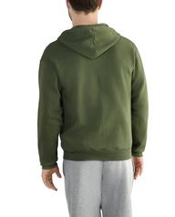 Big Men's EverSoft Fleece Full Zip Hoodie Jacket, 1 Pack Boxwood Green