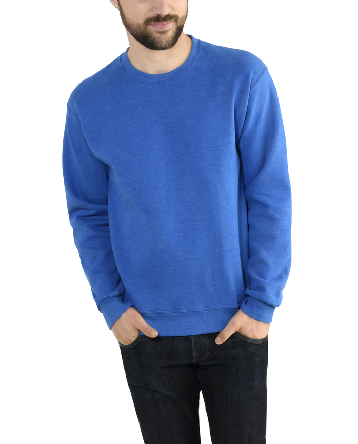 Men's EverSoft Fleece Crew Sweatshirt Blue Shadow Heather