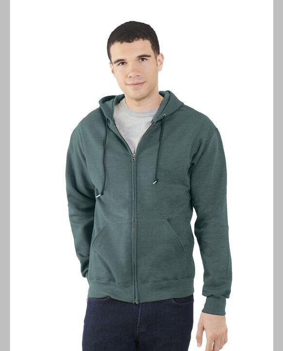 Men's EverSoft Fleece Full Zip Hoodie Jacket, Extended Sizes, 1 Pack Antique Teal Heather