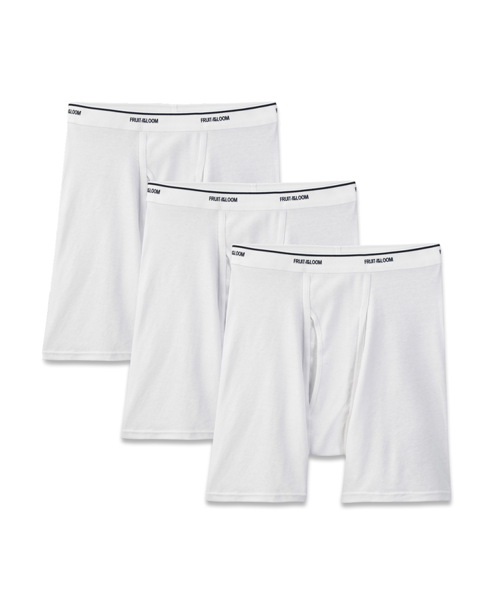 Men's 3 Pack White Boxer Brief