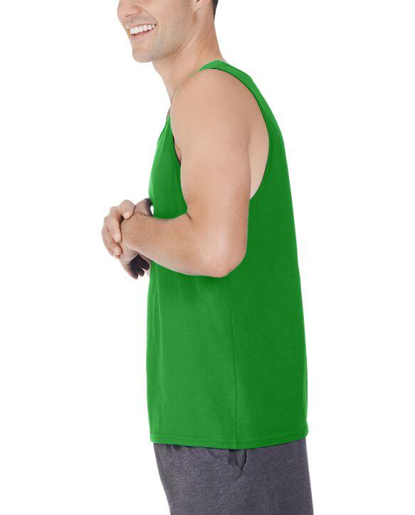 Big Men's Dual Defense UPF Sleeveless Tank Top Leaf Green