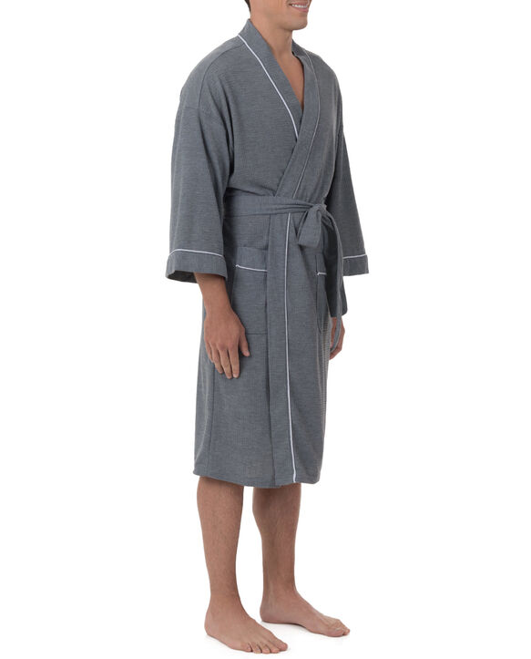 Men's Soft Touch Waffle Robe, 1 Pack, Size 2XL GREY