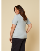 Women's Seek No Further Plus Size Short Sleeve V-Neck T-Shirt Silver Heather