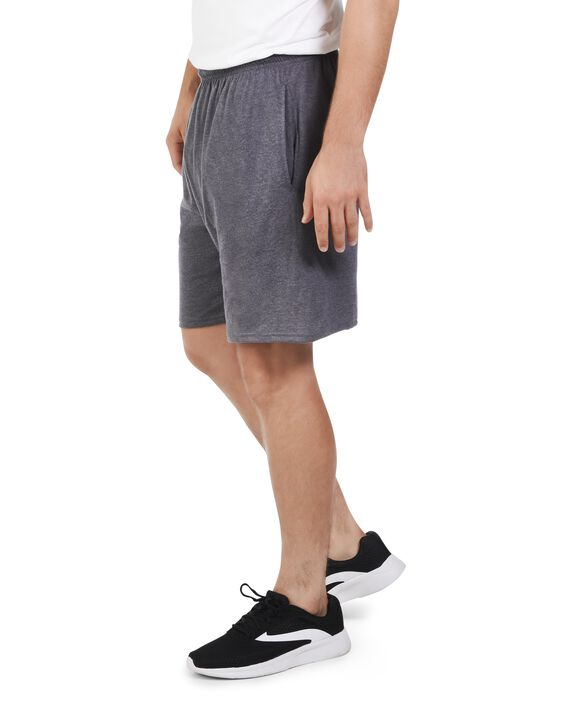 Men's Dual Defense UPF Jersey Shorts, 2 Pack Charcoal Heather
