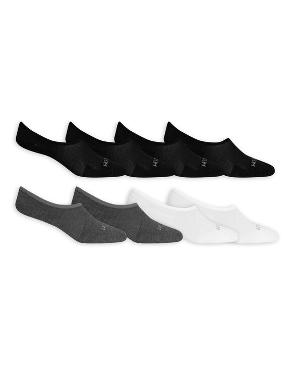 Men's Breathable Liners,  8 Pack, Size 6-12 BLACK, WHITE, GREY