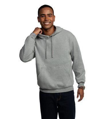 Men's EverSoft Fleece Pullover Hoodie Sweatshirt, Extended Sizes, 1 Pack