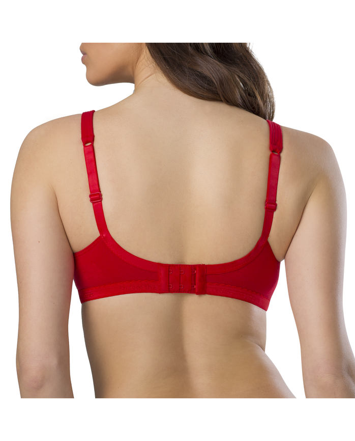 Women's Cotton Stretch Extreme Comfort Bra, 1 Pack RED HOT