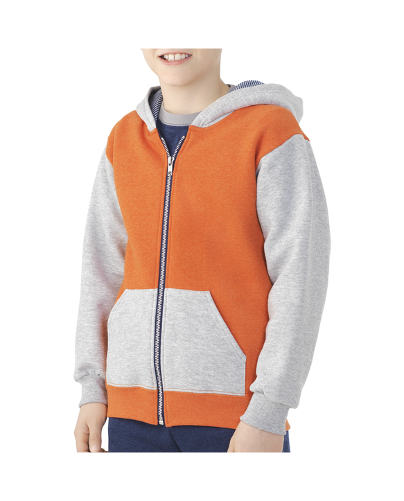 Boys' Fleece Full Zip Hoodie, 1 Pack Athletic Heather