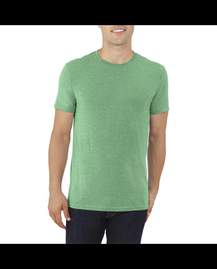 Big Men's EverLight™ Crew Neck T-Shirt, 1 Pack Retro Heather Green