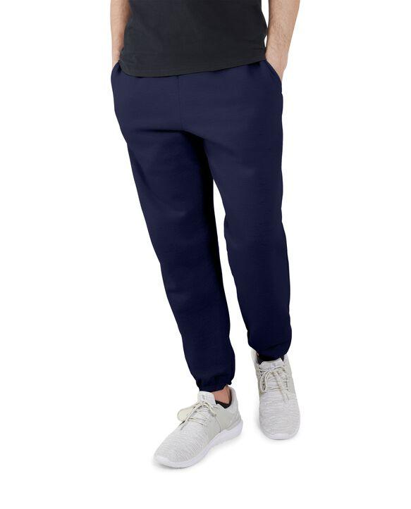 Big Men's EverSoft Fleece Elastic Bottom Sweatpants, 1 Pack J.Navy
