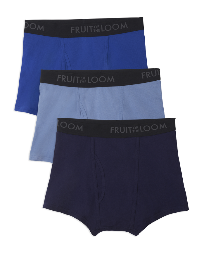 Fruit of the Loom Men's Breathable Cotton Micro-Mesh Short Leg Boxer Brief