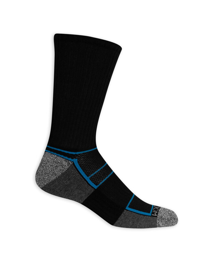 Men's Breathable Crew Socks,  8 Pack, Size 6-12