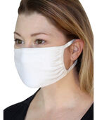 Reusable Cotton Face Mask Non-Medical, 5 Pack Classic White