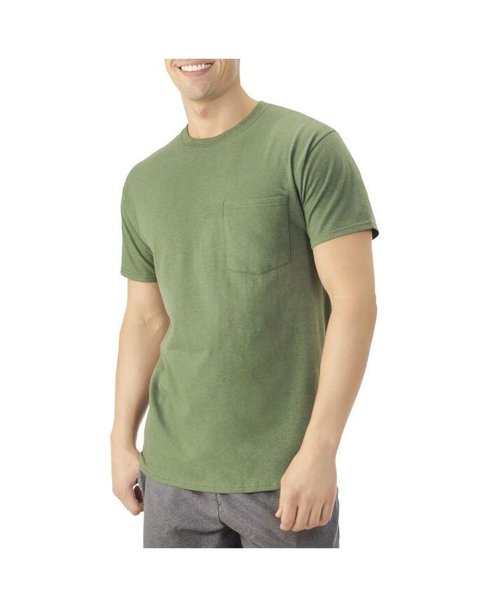 Men's Dual Defense® Pocket T-Shirt, 1 Pack Camo Heather