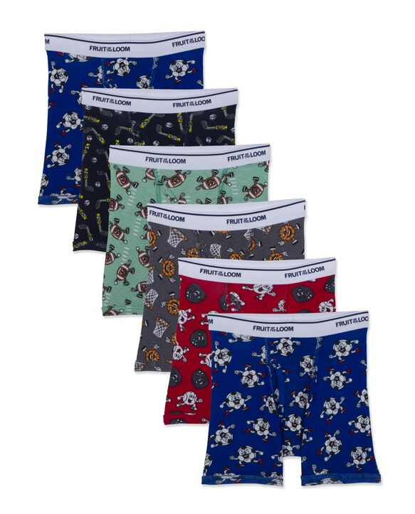 Toddler Boys' Assorted Printed and Solid Boxer Briefs,6 s Pack