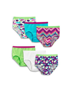 Girls' 6 Pack Assorted Cotton Brief