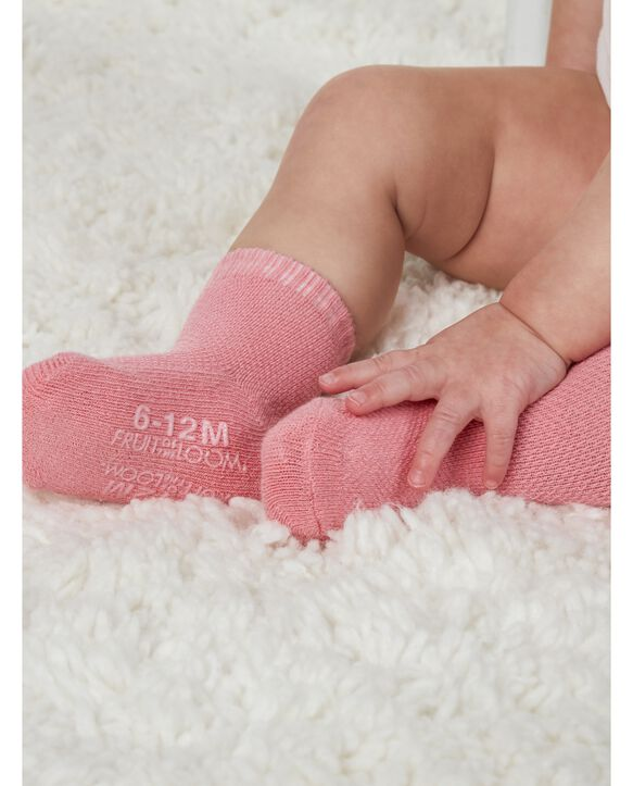 Baby Socks Breathable Socks, 6 Pack Pink Multi