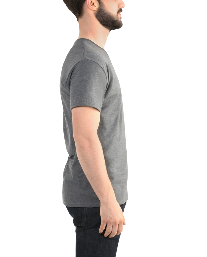 Men's EverSoft V-Neck T-Shirt, 1 Pack Charcoal Heather