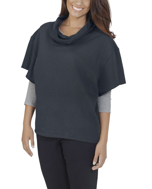 Women's Essentials Cowl Neck Pullover, 1 Pack Charcoal Heather