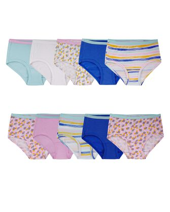 Girls' Assorted Cotton Brief, 10 Pack