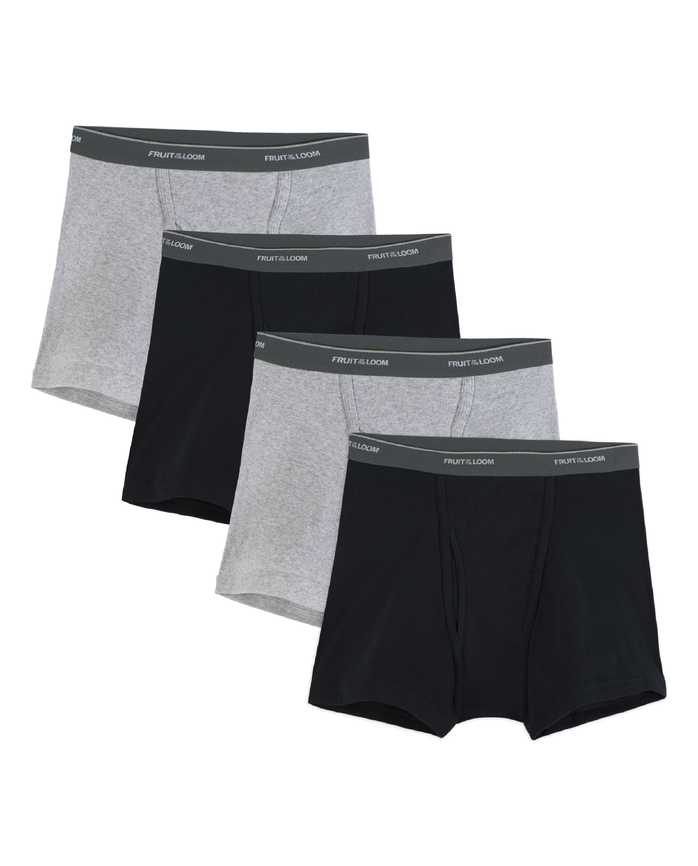 Mesocolon Fly Short Leg Boxer Briefs, Extended Sizes, 4 Pack