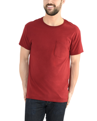 Big Men's Dual Defense UPF Short Sleeve Pocket T-Shirt, 1 Pack Cardinal