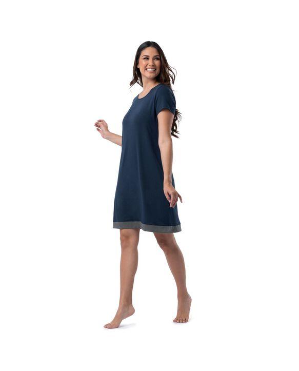Women's Soft & Breathable Pajama Sleepshirt, 1pk MIDNIGHT BLUE
