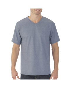 Big Men's EverSoft Micro Stripe V-neck T-Shirt, Available in Extended Sizes