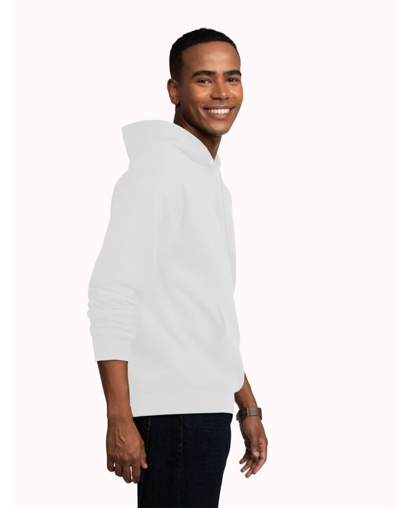EverSoft Fleece Pullover Hoodie Sweatshirt, 1 Pack White