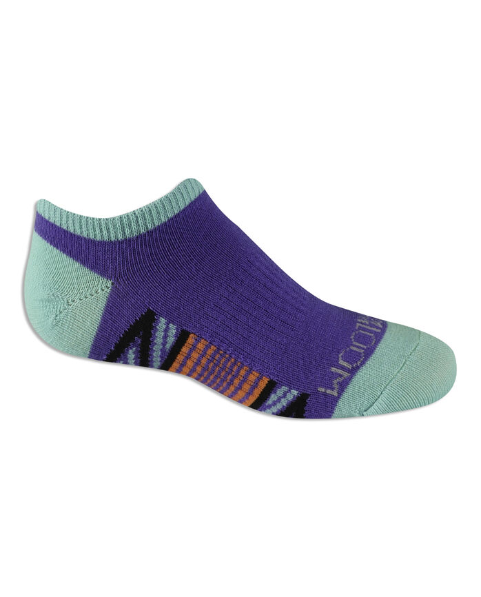 Girls' Everyday Active Arch Support No Show Socks, 6 Pack