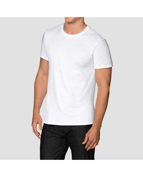 Men's CoolZone Crew T-Shirts, 5 Pack - White White