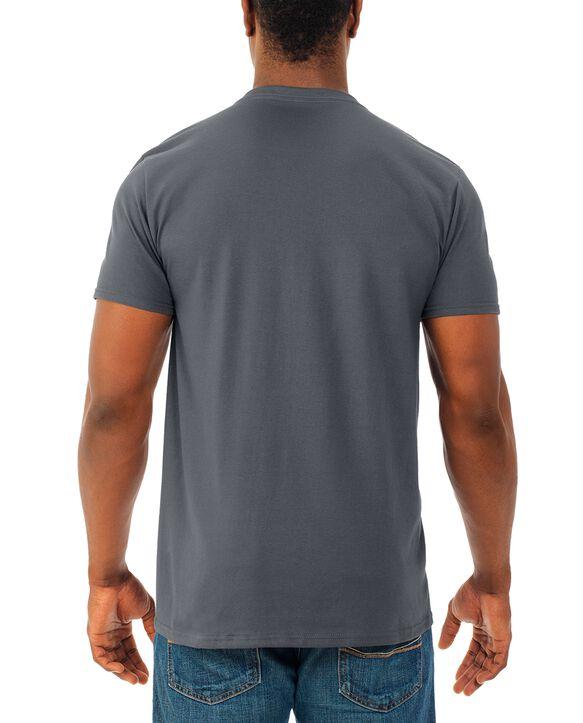 Men's Soft Short Sleeve V-Neck T-Shirt, 4 Pack Charcoal