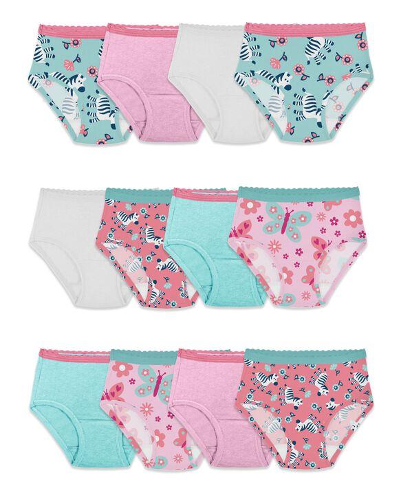 Toddler Girls' Brief Panty, 12 Pack