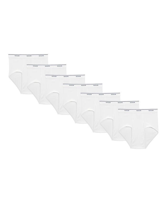 Men's White Brief, 7 Pack, Extended Sizes