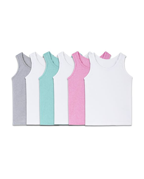 Toddler Girls' EverSoft Assorted Tank, 6 Pack