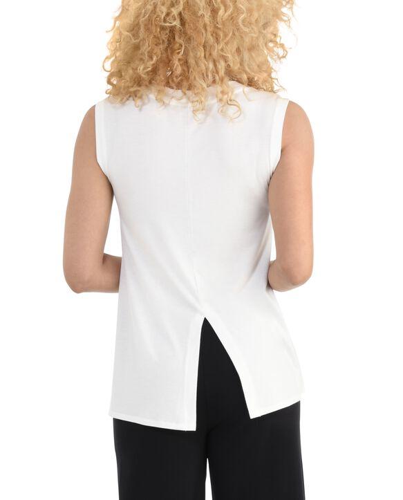 Women's Seek No Further Scoop Neck Shell Tank Top White