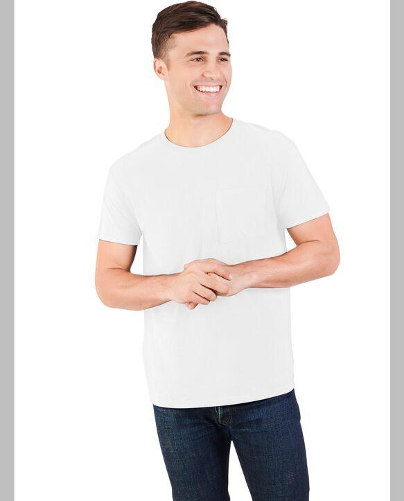 Big Men's Dual Defense UPF Short Sleeve Pocket T-Shirt, 1 Pack Arctic White