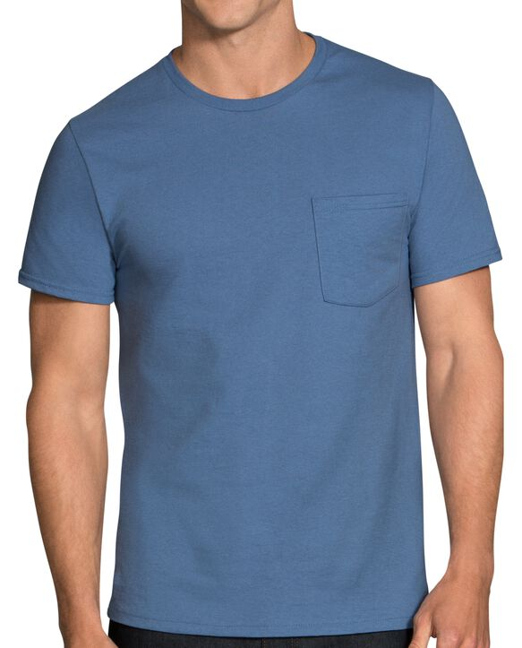 Men's Assorted Fashion Pocket T-Shirt, 6 Pack ASSORTED