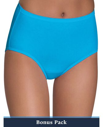 Women's Assorted Cotton Brief Panty, 9 Pack