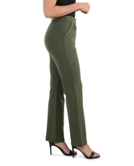 Women's Seek No Further High Waisted Pleated Fit and Flare Pants Military Green
