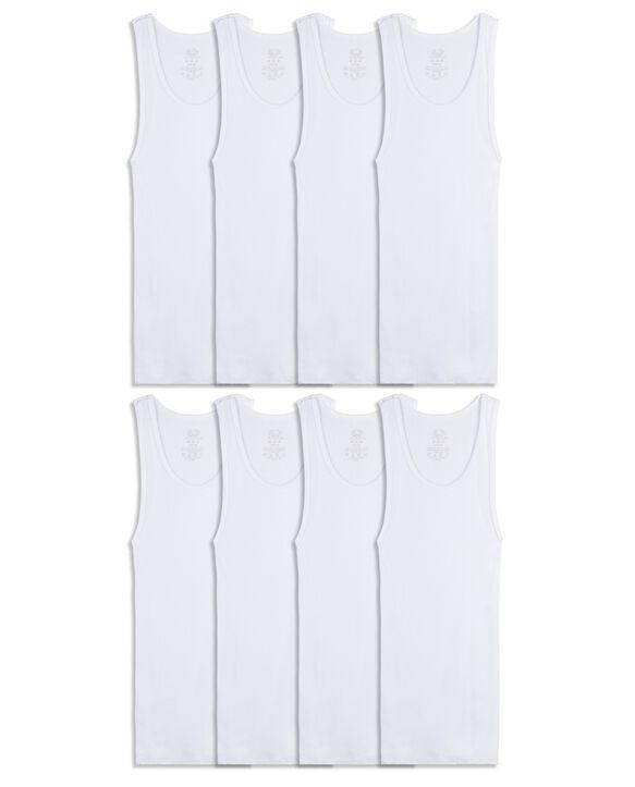 Boys' Classic White A-Shirts, 8 Pack