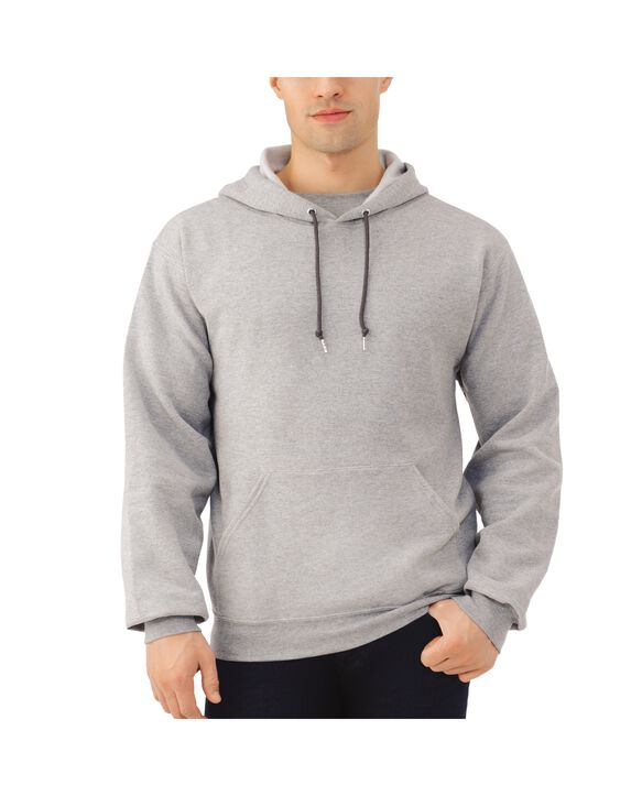 Big Men's EverSoft Fleece Pullover Hoodie Sweatshirt, 1 Pack Steel Grey Heather